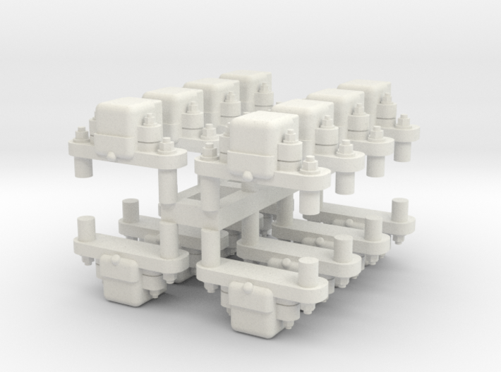 Gn15 grease axleboxs 16 off (for 4 cars) 3d printed