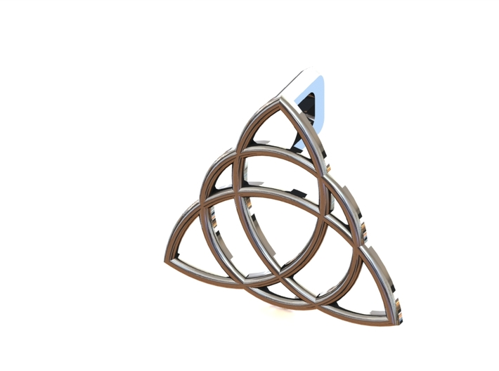 Charmed Triquetra Pendant 3d printed SolidWorks Rendering