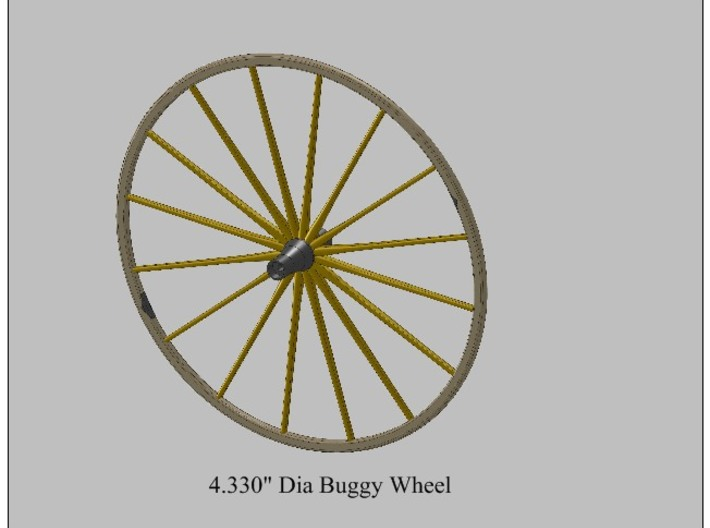 9th Scale Surrey Front Wheel 3d printed
