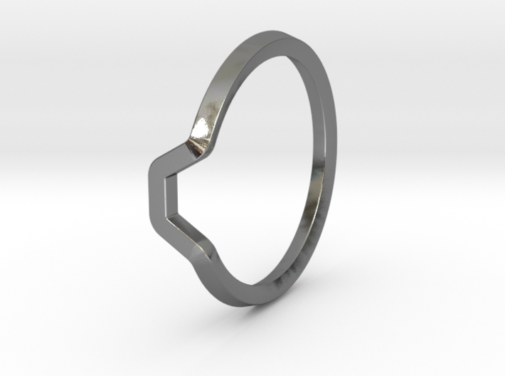 BETTER HALF Ring(HEXAGON), US size 6, d=16,5mm  3d printed