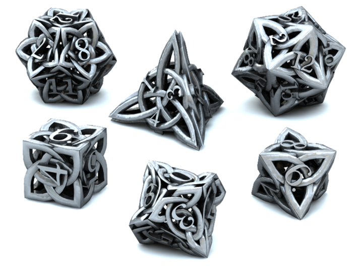Celtic Dice Set 3d printed 3D Render
