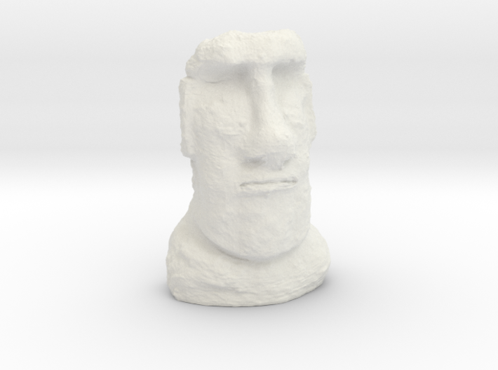 28mm/32mm scale Moai Head 3d printed