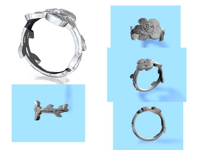 NOLA Magnolia, Ring Size 9 3d printed
