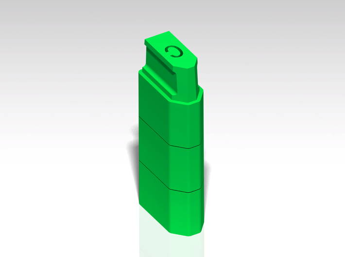 XT60 Safety Cap - 'C' for Charged - Stackable 3d printed Stackable
