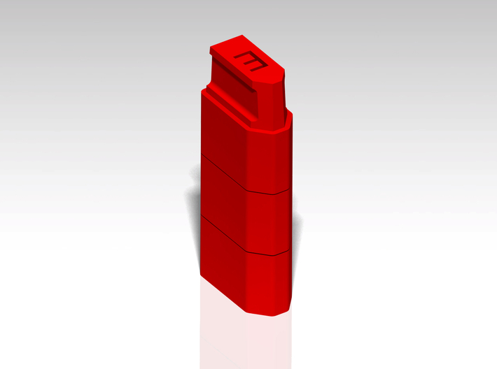XT60 Safety Cap - 'E' for Empty - Stackable 3d printed Stackable