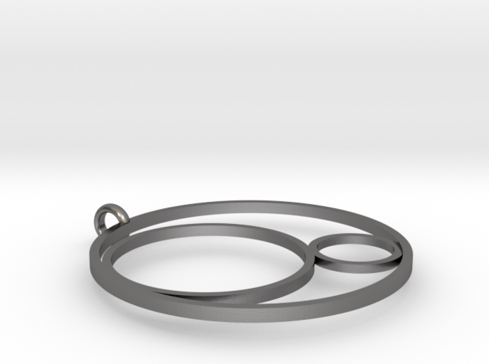 3CIRCLES PENDANT STEEL 3d printed