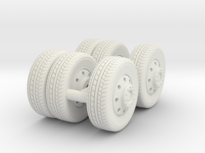 1/87 FDNY seagrave-communication truck wheels 3d printed