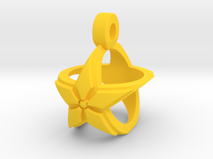 Star Pendant v2 3d printed
