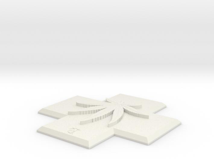 MED-FLT-POT LEAF 3d printed