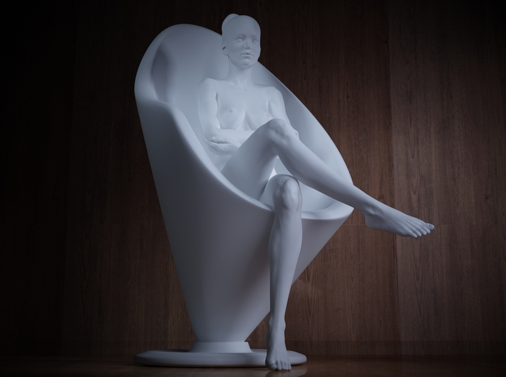 1/32 Girl sitting Chair Part of Girl 007 3d printed