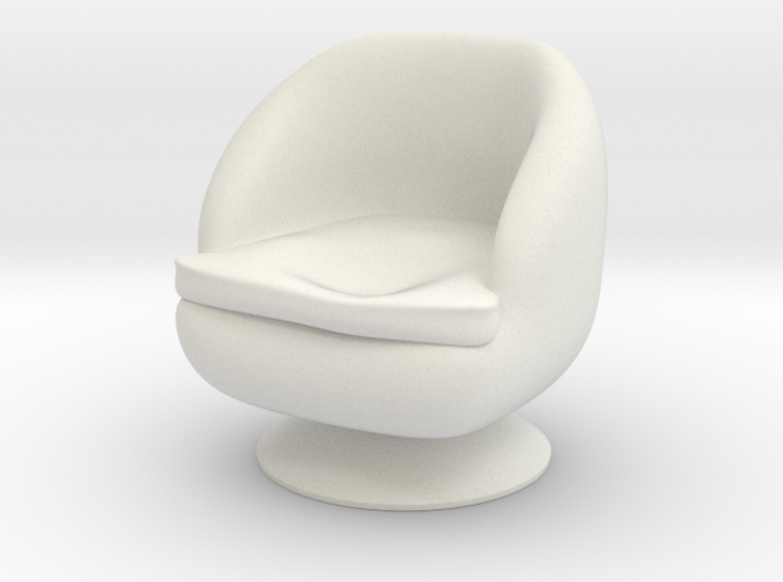 1/32 Girl sitting Chair Part of Chair 013 3d printed