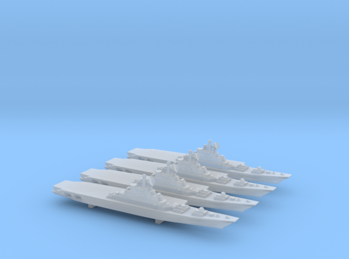 Kiev-Class Carrier x 4, 1/6000 3d printed