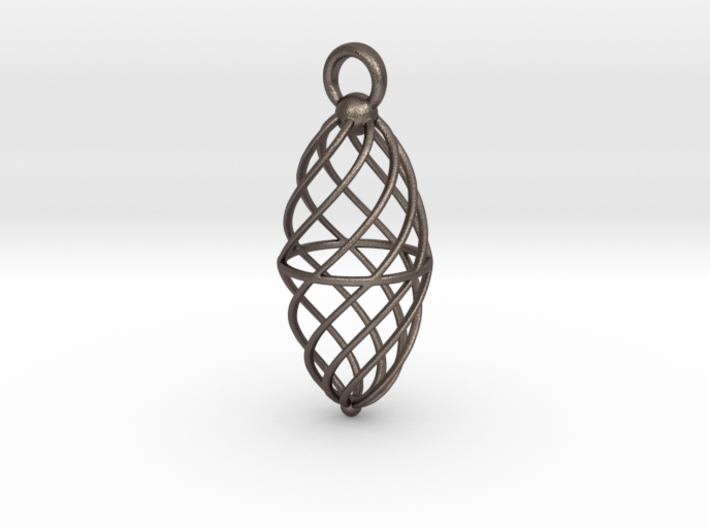 Twisted Cage ling 3d printed