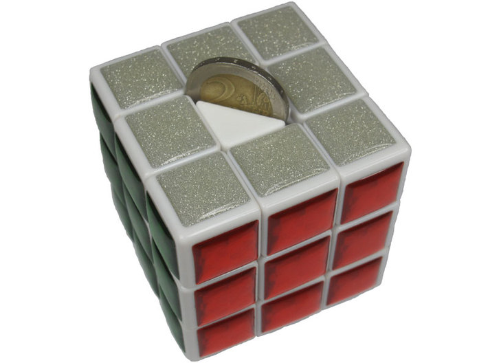 Center for Coin Chest Puzzle 3d printed