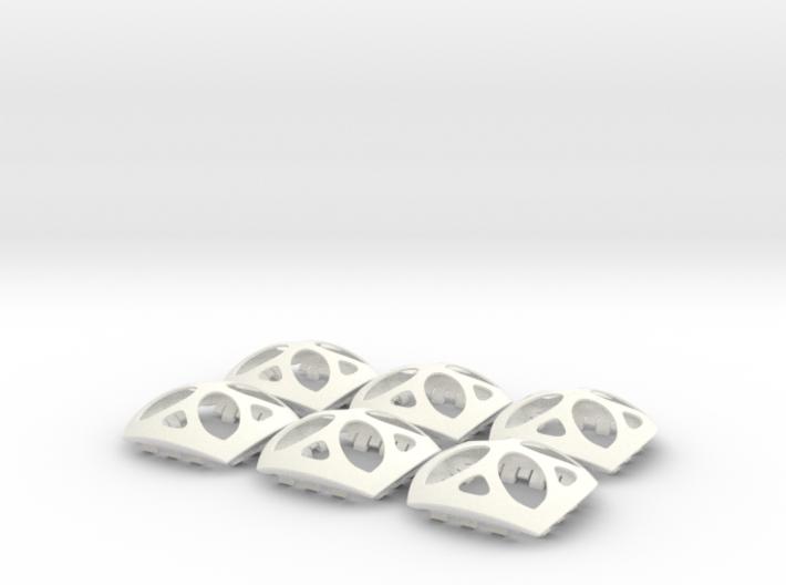 OrBLock - Interlocking Sphere Segments 3d printed six interlocking sphere segments