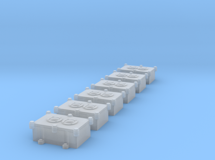 1/18 US Navy Double Push Button Switch Box 3d printed