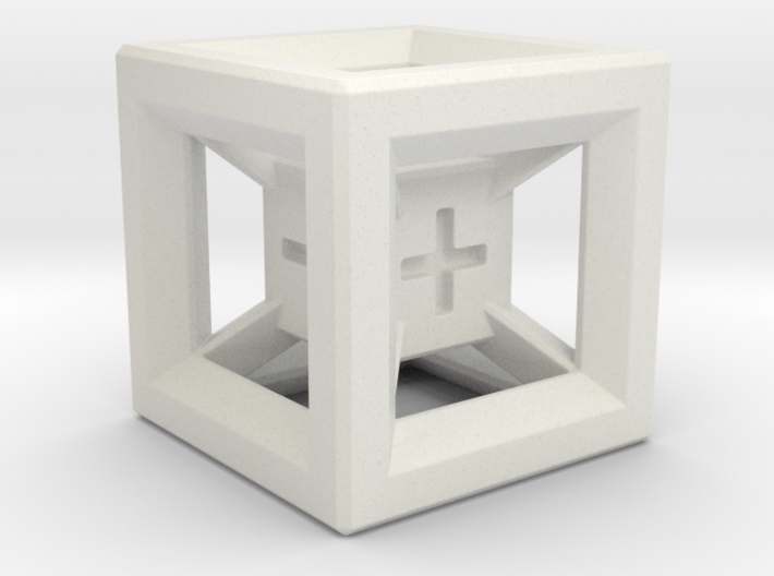 Fudge Dice Hypercube 1.5cm (D3) 3d printed