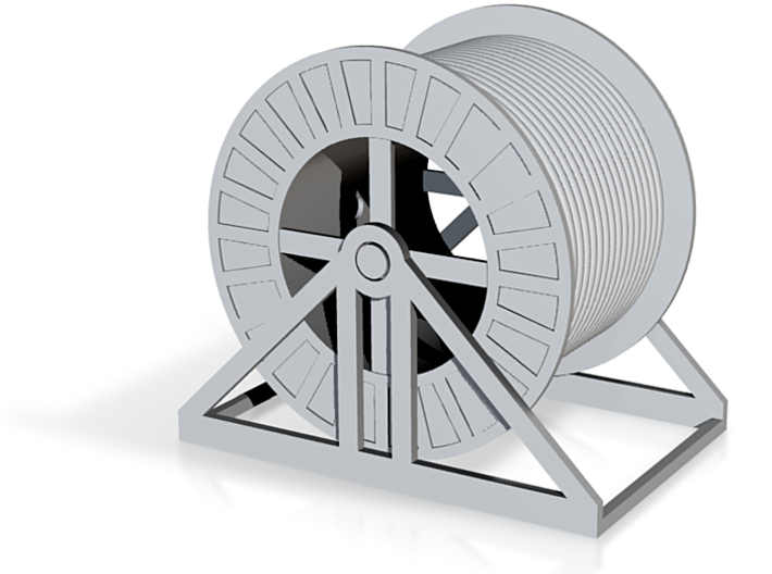 O Scale Steel Cable Reel Full 1:48 3d printed
