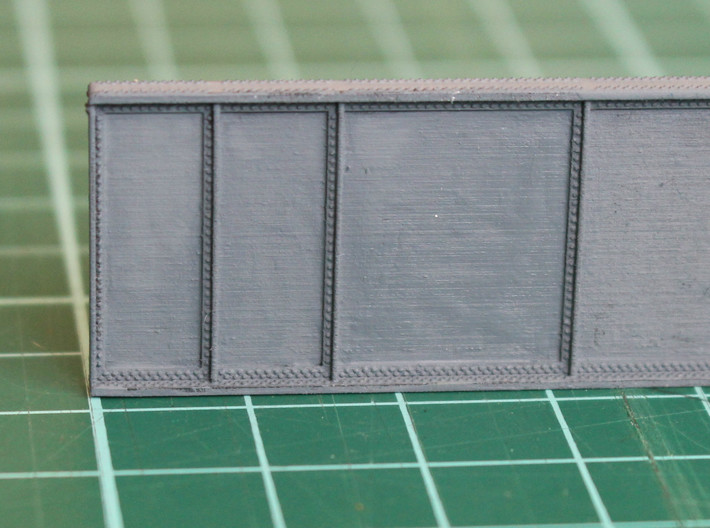 N Scale Bridge Girder 3d printed Detail picture to show the rivets