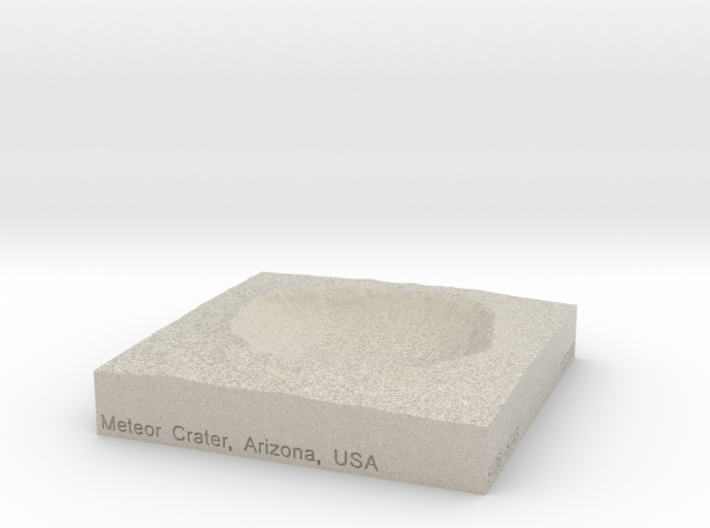 3'' Meteor Crater, Arizona, USA, Sandstone 3d printed