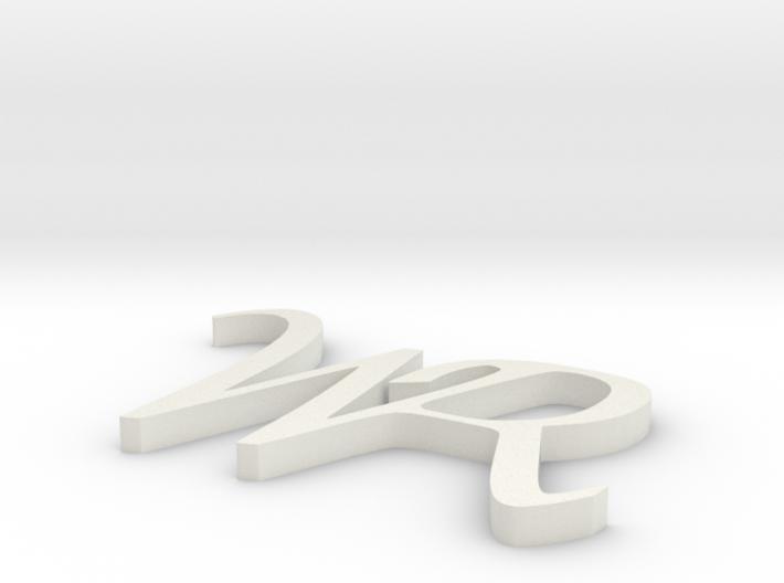 WR logo 3d printed