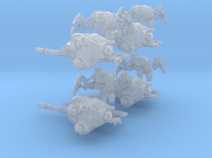 6mm Sandwalker Sci-Fi Tanks (4pcs) 3d printed