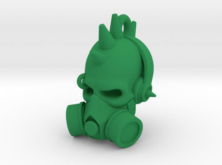 DJ Punk Skull Keychain 3d printed