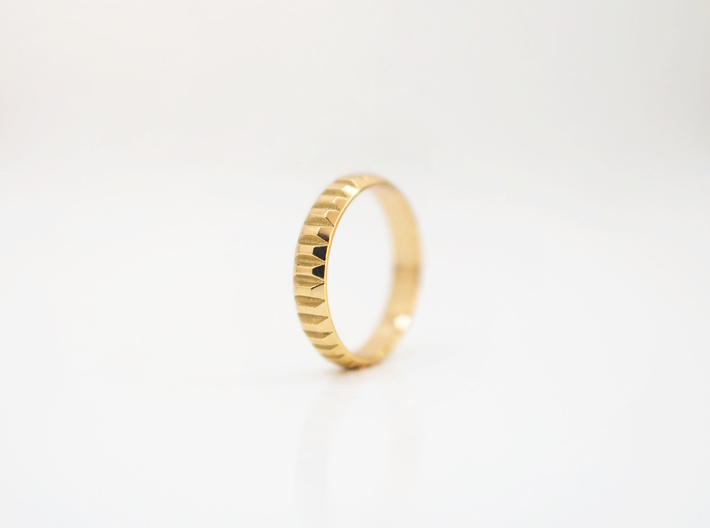 Gold Bars Ring | 3 sizes 3d printed