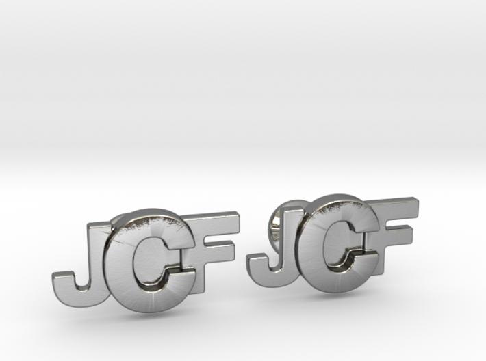 Monogram Cufflinks JFC 3d printed