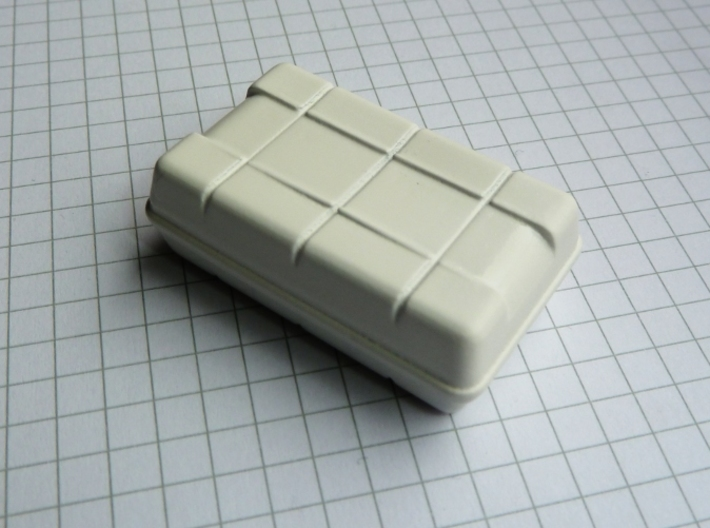 """Life Raft square 1/25 (1 pc.) 3d printed Life raft in """"White Detail"""". Slightly sanded, primed and painted gives a nice surface without much work."""