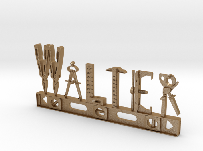 Walter Nametag 3d printed
