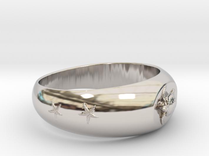 Ø0.683 inch/Ø17.35 mm Sea Turtle Ring 3d printed