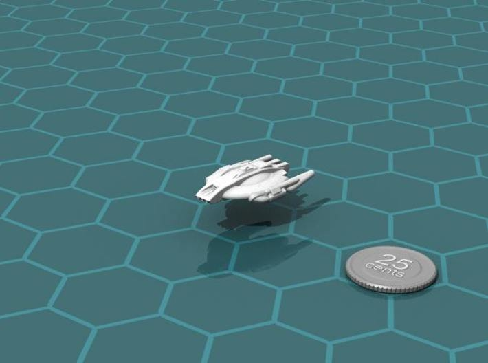 Xuvaxi Aggressor 3d printed Render of the model, with a virtual quarter for scale.