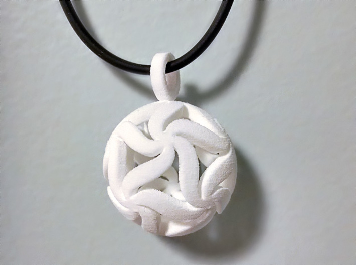 Star Ball Floral (Pendant Size) 3d printed Thanks to Walter for the photo.
