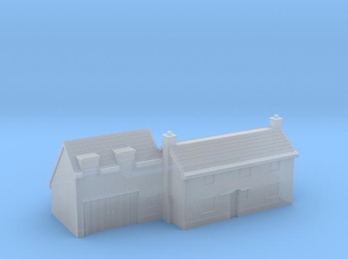 1:700 Scale Parham Village House #3 3d printed
