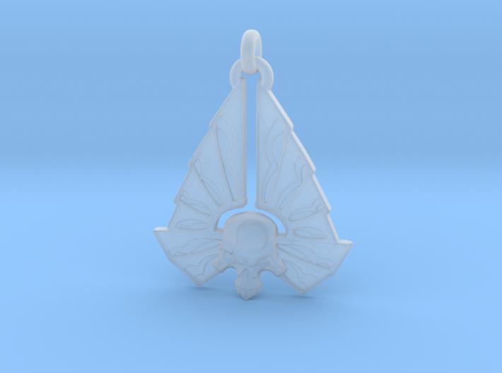 Winged Skull 01 - 60mm 3d printed