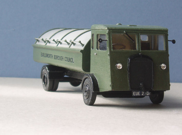 1:43 Dennis 1940s Refuse Carrier 3d printed Detailing added