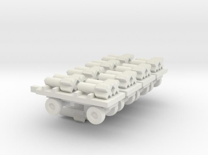 1/144 German bomb transportation set 3d printed