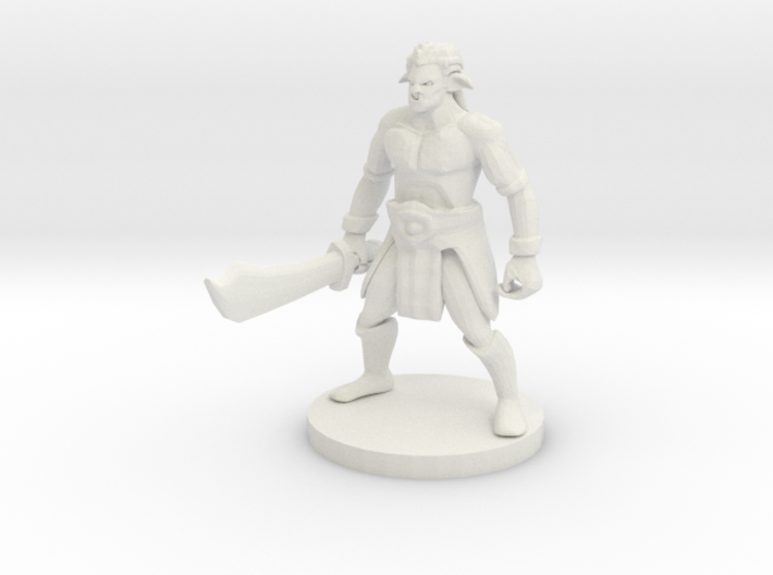 Half Orc Bandit Captain 3d printed