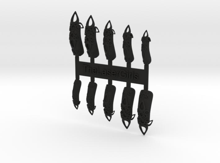 Castle Nails (Size 3)  3d printed
