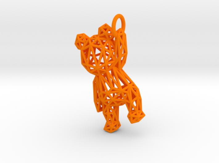 Teddy Bear Pendant - ring, edge - 48mm 3d printed