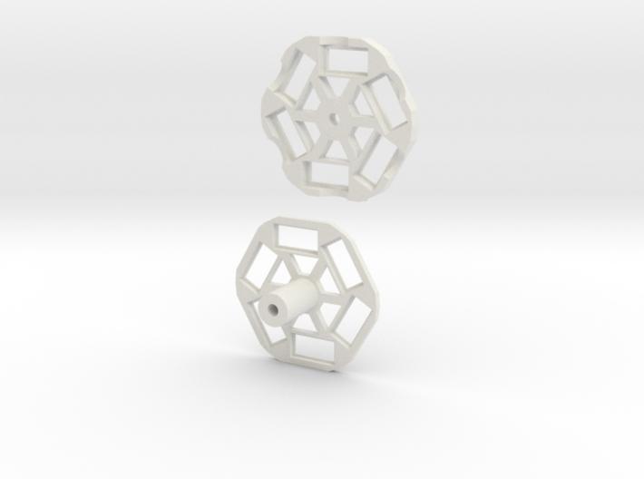 Vesmir6 - Stereoscopic 360 Video Rig 3d printed