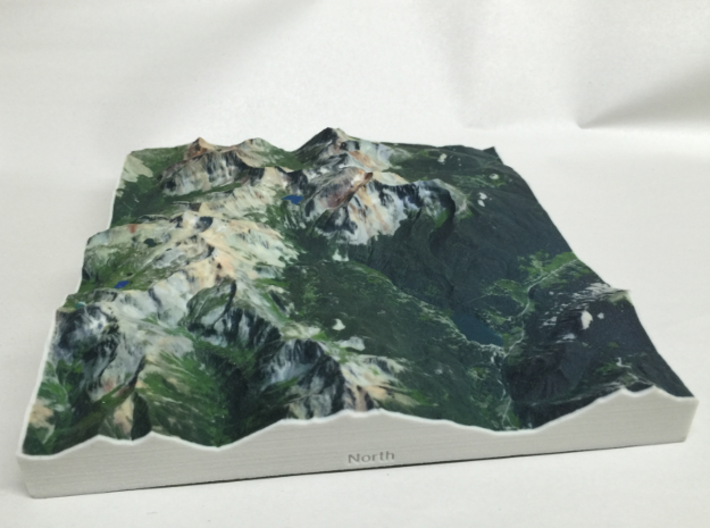 8'' Trout Lake, Colorado, USA 3d printed Photo actual model, viewed from the North