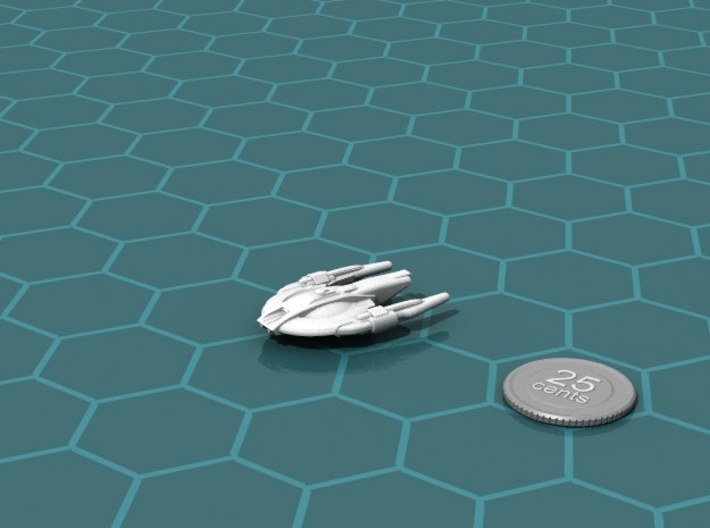 Xuvaxi Regulator 3d printed Render of the model, with a virtual quarter for scale.