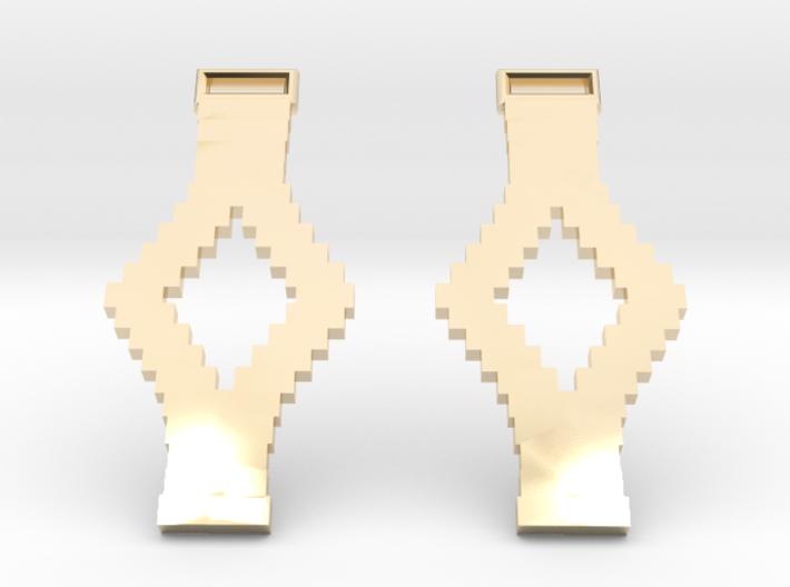 Tetris Earrings 3d printed