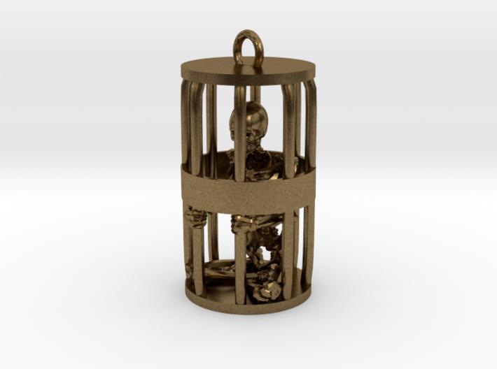 Skeleton in Gibbet 3d printed