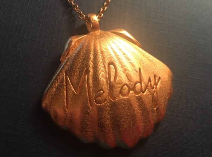 Melodys Pendent From Little Mermaid 3d printed