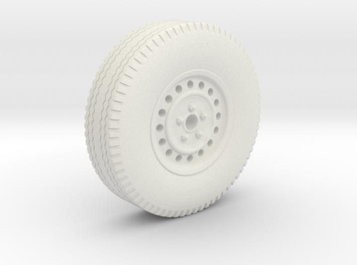 0159-01 1:43 Anhängerrad mit Reifen und Felge 3d printed