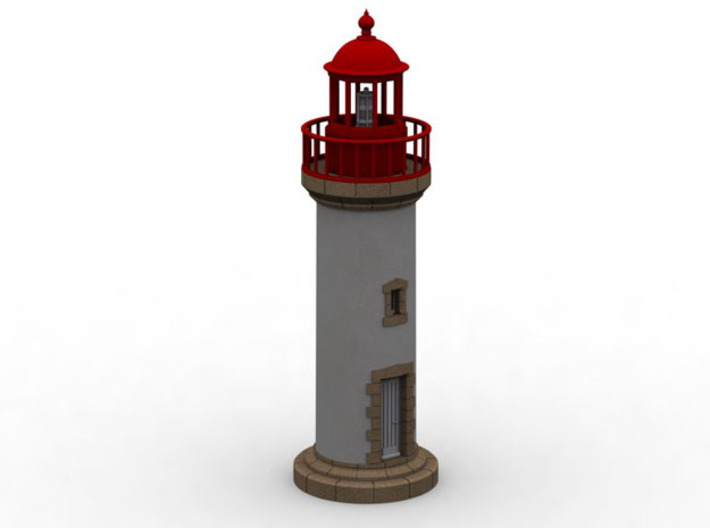 HOpb10 - Small brittany lighthouse 3d printed