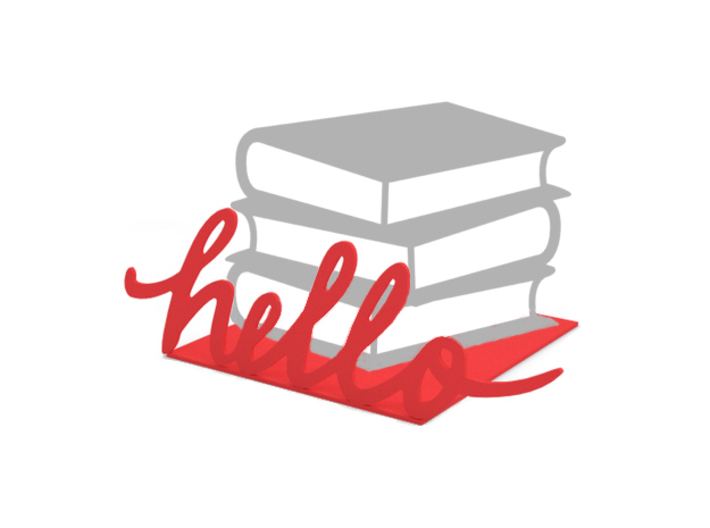 """Bookend """"Hello"""" 3d printed"""